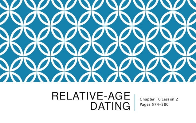 RELATIVE-AGE DATING Chapter 16 Lesson 2 Pages 574-580
