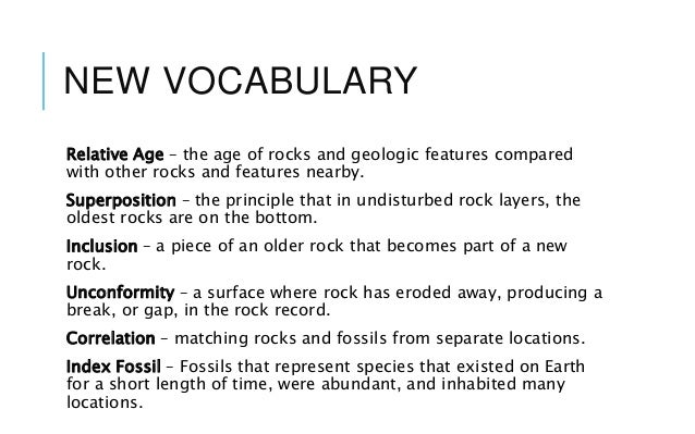 Relative Dating Rock Layers relative dating of rock layers by ...
