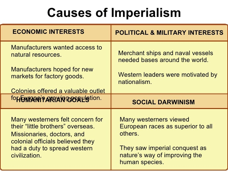 ?imperialism in world war 1 essay imperialism in world war 1 essay sample imperialism was one of the four contributing factors to the cause of world war one, along with secret alliances, militarism, and nationalism it is the most important cause of ww1, because it created a build-up of tension in europe and outside of europe, and through imperialism, the three other causes.