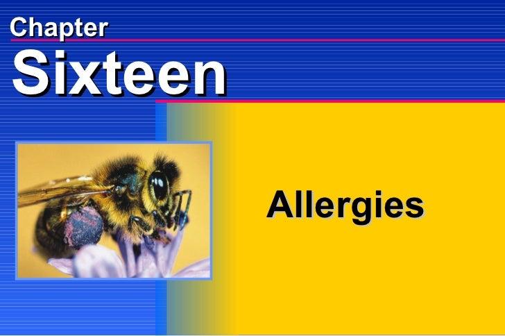 Chapter Allergies Sixteen