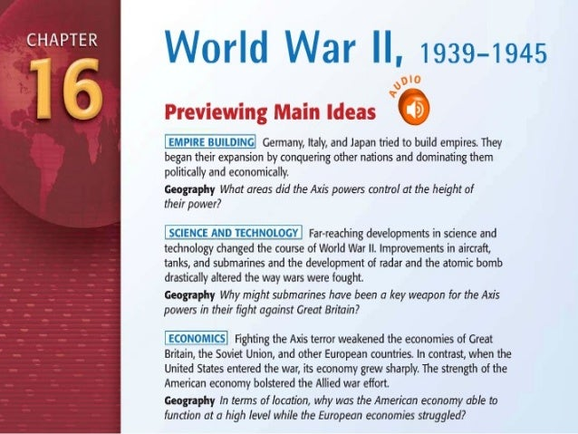 World War II and Its Aftermath         (1931–1949)
