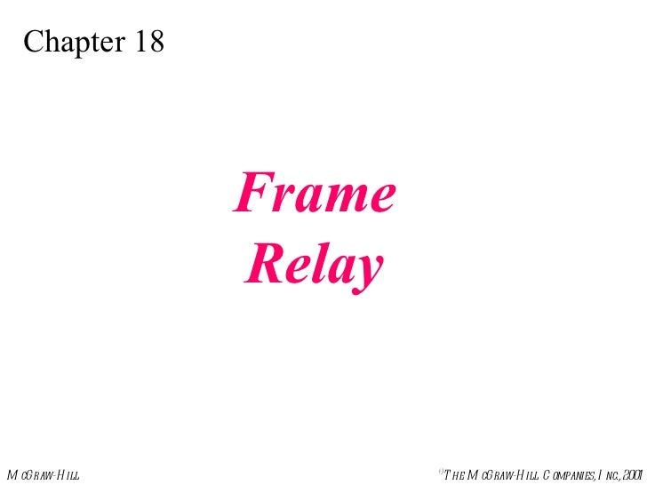 Chapter 18 Frame Relay