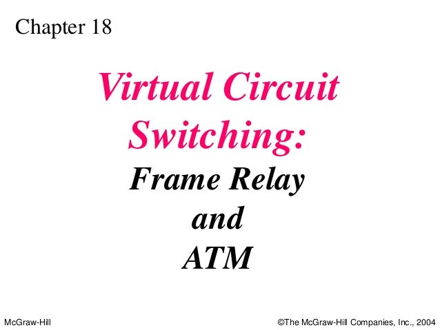 Chapter 18              Virtual Circuit                Switching:                Frame Relay                   and        ...