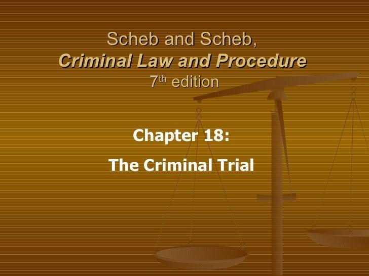 Ch 18 Criminal Trial