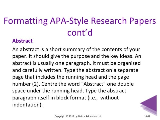 apa style research paper double spaced