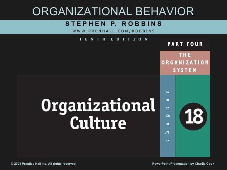Ch18 Organizational Culture