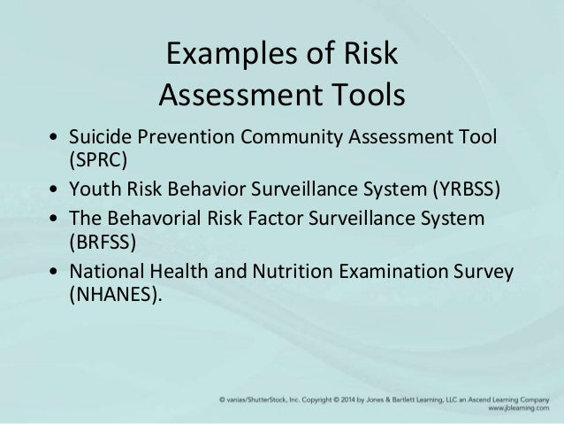 Health Assessment Example Examples of Risk Assessment