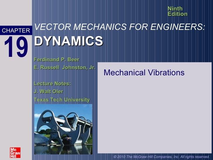mechanic of machine-Mechanical Vibrations