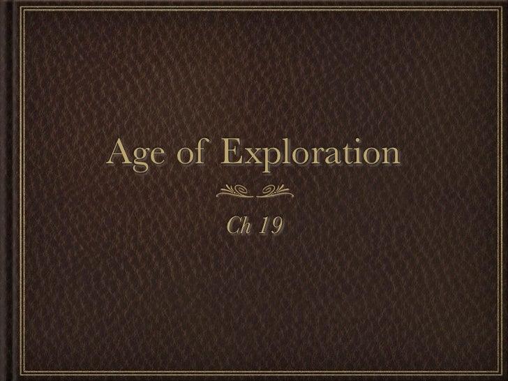 Ch 19 Age Of Exploration Slides