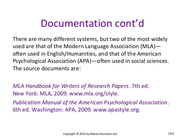 apa difference mla papers research style