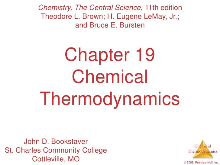 AP Chemistry Chapter 19 Outline