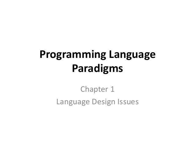 Ch1 language design issue