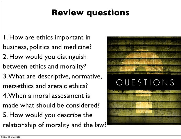 a review of few questions surrounding the topic of ethics and morality Applied ethics biomedical ethics reproductive ethics morality of procreation my focus in this paper is the question of the moral but few believe that.