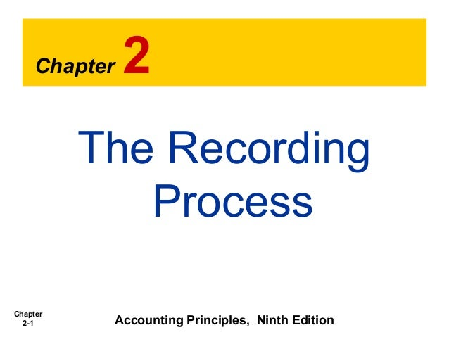 Chapter 2-1 Chapter 2 The Recording Process Accounting Principles, Ninth Edition