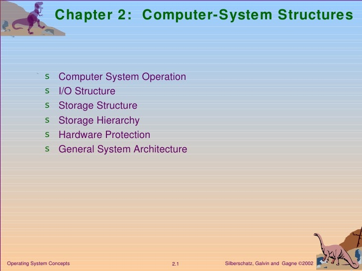 Chapter 2:  Computer-System Structures <ul><li>Computer System Operation </li></ul><ul><li>I/O Structure  </li></ul><ul><l...