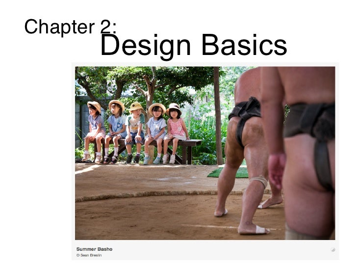 Chapter 2:        Design Basics         Design basics