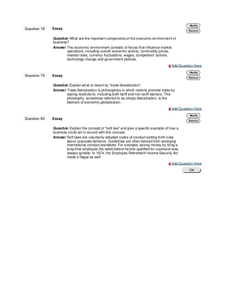 challenges in the global business environment essay Assignment 2: challenges in the global business environment worth 280 points according to the textbook, ongoing challenges in the global business environment.
