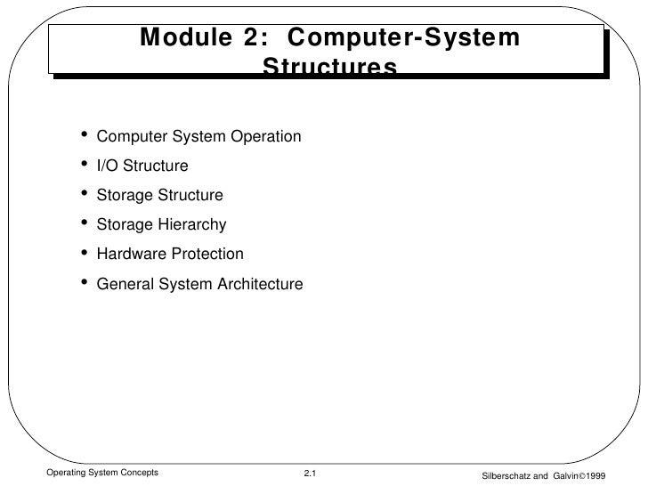 Module 2:  Computer-System Structures <ul><li>Computer System Operation </li></ul><ul><li>I/O Structure  </li></ul><ul><li...