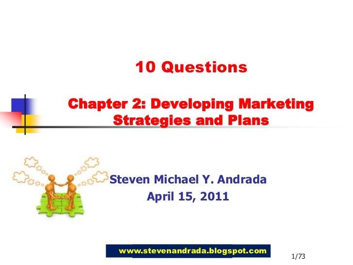 Ch2 developingmarketingstrategies&plans-questions