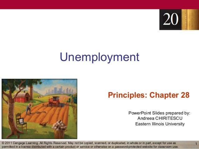 Unemployment                                                                               Principles: Chapter 28         ...