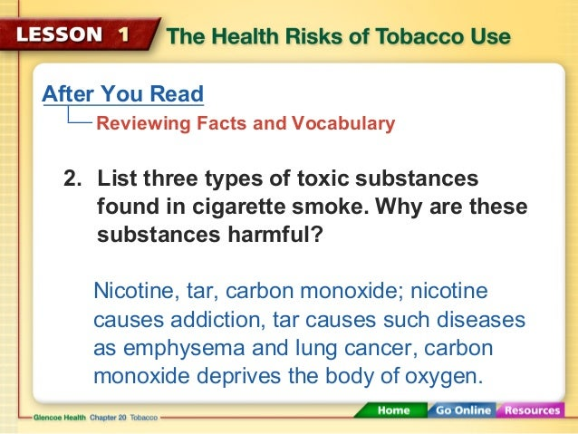 an analysis of the topic of the nicotine and the harmful substances of tobacco The pilpt study, which is now being extended, found significant levels of nicotine and other harmful substances on kids' hands this pilot study, published in the bmj journal tobacco control, looked at 25 kids, and is now being followed up by a larger analysis.