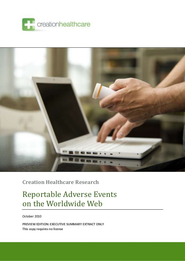 Reportable Adverse Events on the Worldwide Web