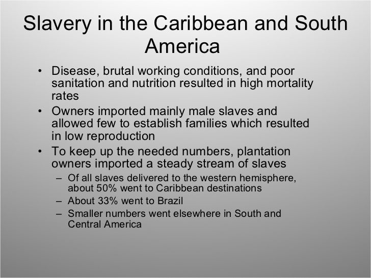 latin america and slavery essay Slavery and its impact in latin america vs the united states slavery originally started in latin america and the west indies by the french, spanish, and portuguese.