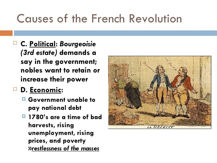 major causes of the french revolution Free essay: dbq essay: what were the major causes of the french revolution (discuss three) the major cause of the french revolution was the disputes.
