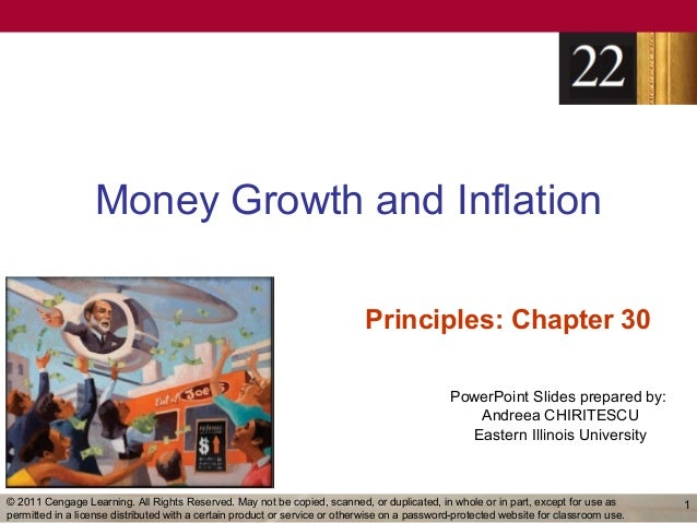 Money Growth and Inflation                                                                            Principles: Chapter ...