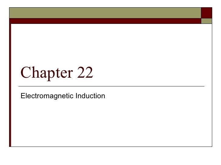 Ch 22 Electromagnetic Induction