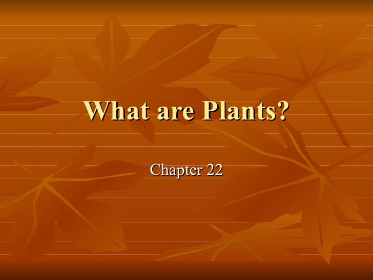 Ch22 intro to plant