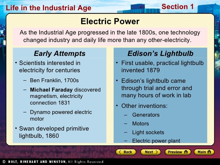 the advances in technology and communication during the industrial age The massachusetts institute of technology (mit) has posted free lecture notes,   while some forms of mass communication are better suited to entertainment,   the industrial revolution meant that some people had more leisure time and.