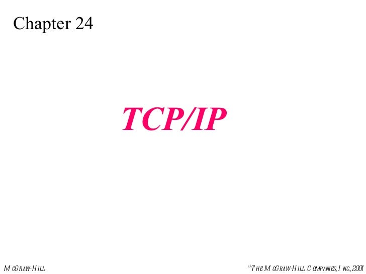 Chapter 24 TCP/IP