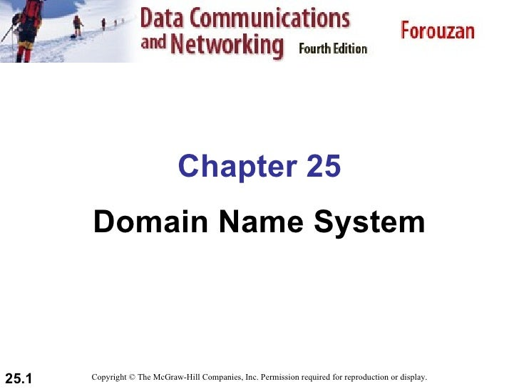 Chapter 25 Domain Name System Copyright © The McGraw-Hill Companies, Inc. Permission required for reproduction or display.