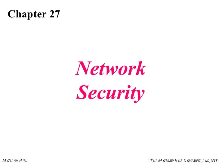 Chapter 27 Network Security