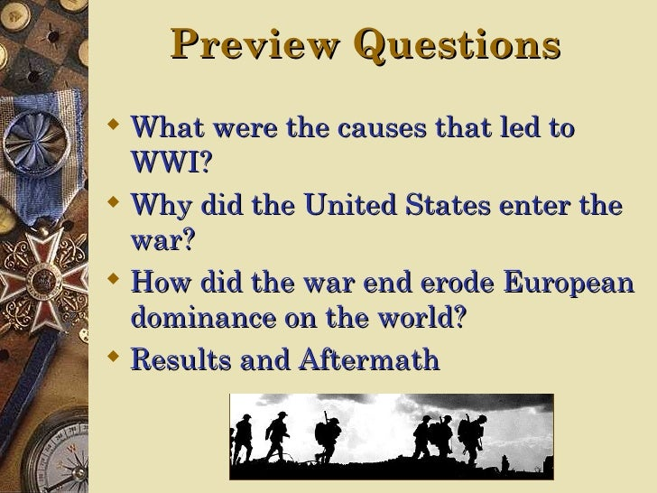 why was world war i a The causes of the first world war are still being debated a century on, but time has led to some clarity.