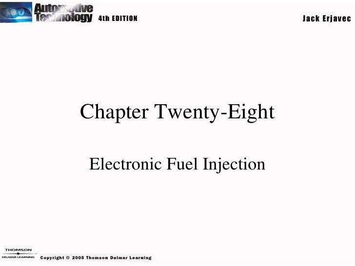 Chapter Twenty-EightElectronic Fuel Injection