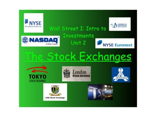 Ch2A Stock Market and 2B Players
