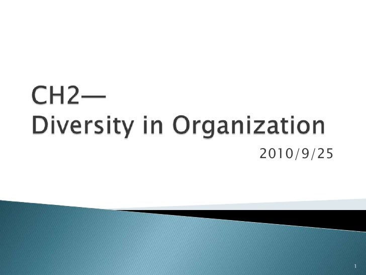Ch2 diversity in organization