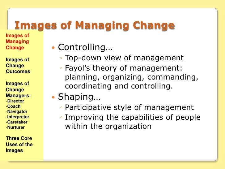 six images of managing change Change control is a systematic approach to managing all changes made to a  product  here's an example of a six-step process for a software change request.