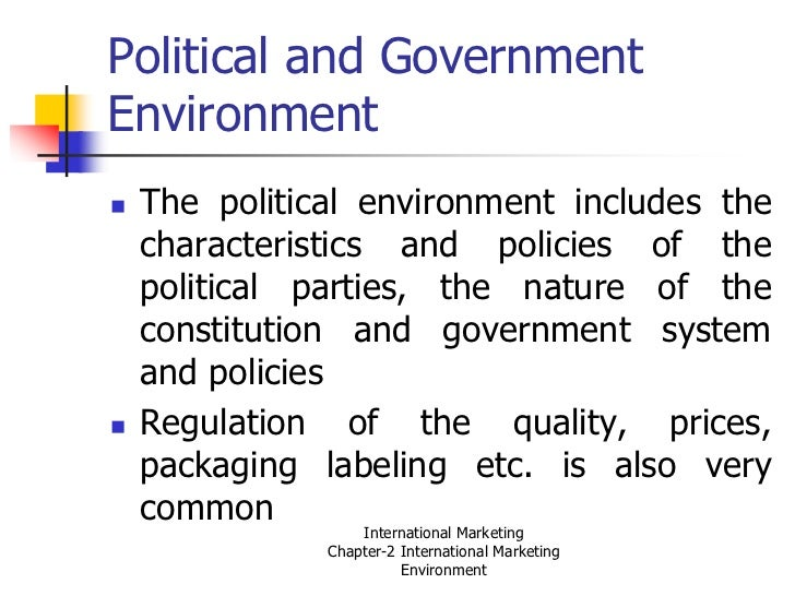 marketing mix differ in the domestic and international environment Concepts and meanings of international marketing differences between domestic marketing coordination of the marketing-mix working in international.