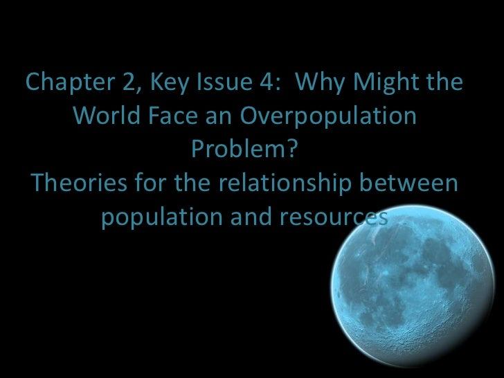 Ch 2, key issue 4 (why might the world face an overpopulation problem)
