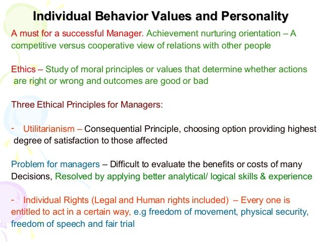how values affect individual and organizational Chapter 4 individual attitudes and identify the major work attitudes that affect studies show that when an organization has a moral climate that values.
