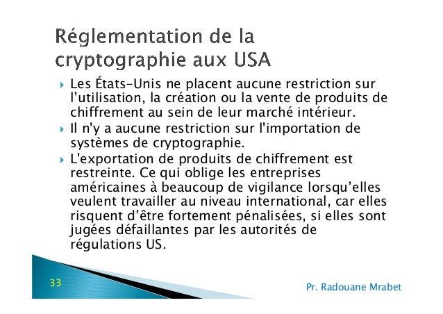 Ch2 reglementation cryptographie for Interieur gov ma
