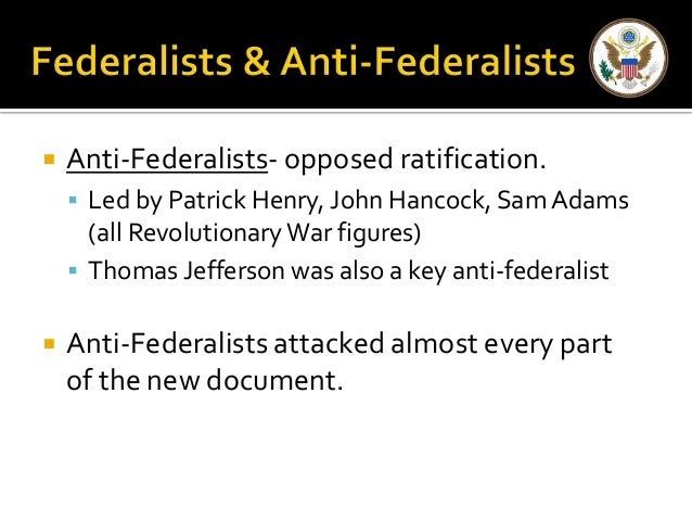 """U.S. Government -- Chater 2,Section 5 """"Ratifying the Constitution"""""""