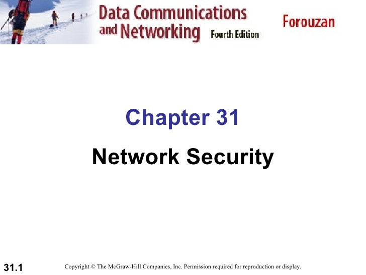 Chapter 31                  Network Security    31.1   Copyright © The McGraw-Hill Companies, Inc. Permission required for...