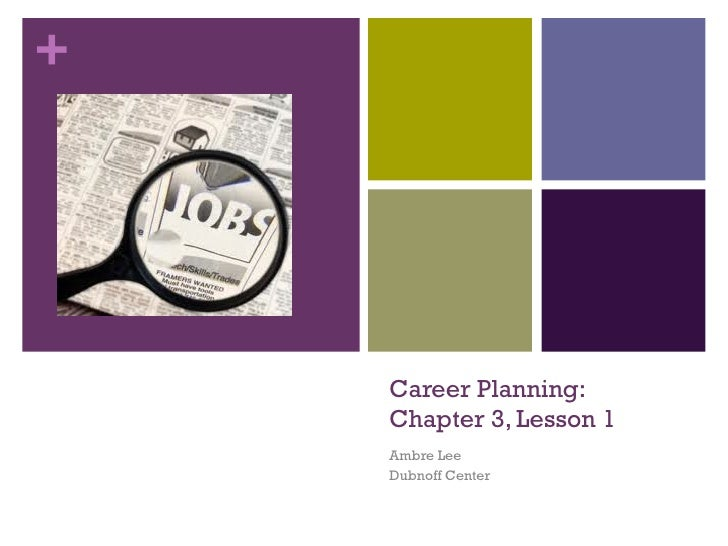 Career Planning: Chapter 3, Lesson 1 Ambre Lee Dubnoff Center