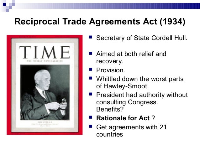 reciprocal trade agreement act of 1934