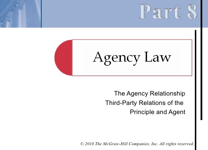 Chapter 36 – Third-Party Relations of the Principal and the Agent