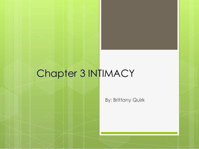 Ch3 intimacy